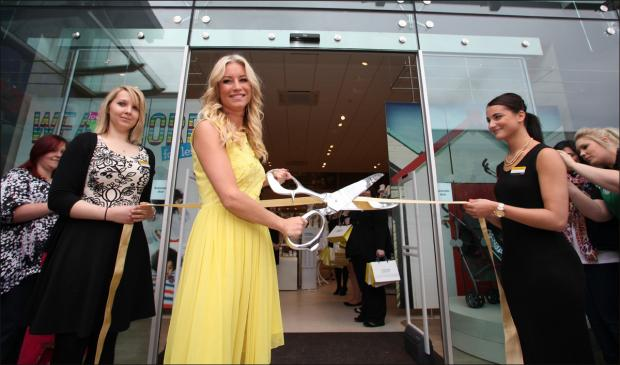 Denise van Outen at the opening of the shopping centre last year.