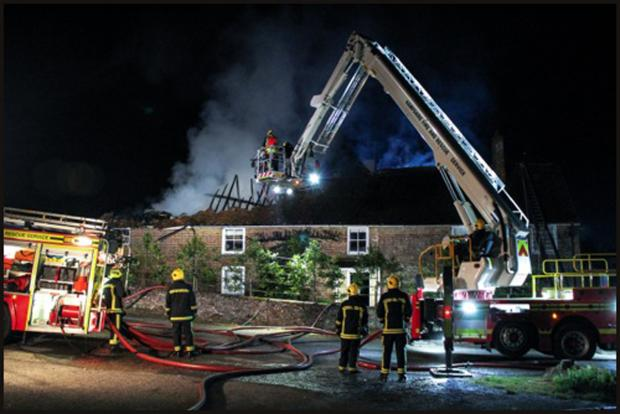 Fire started by rats at historic farmhouse
