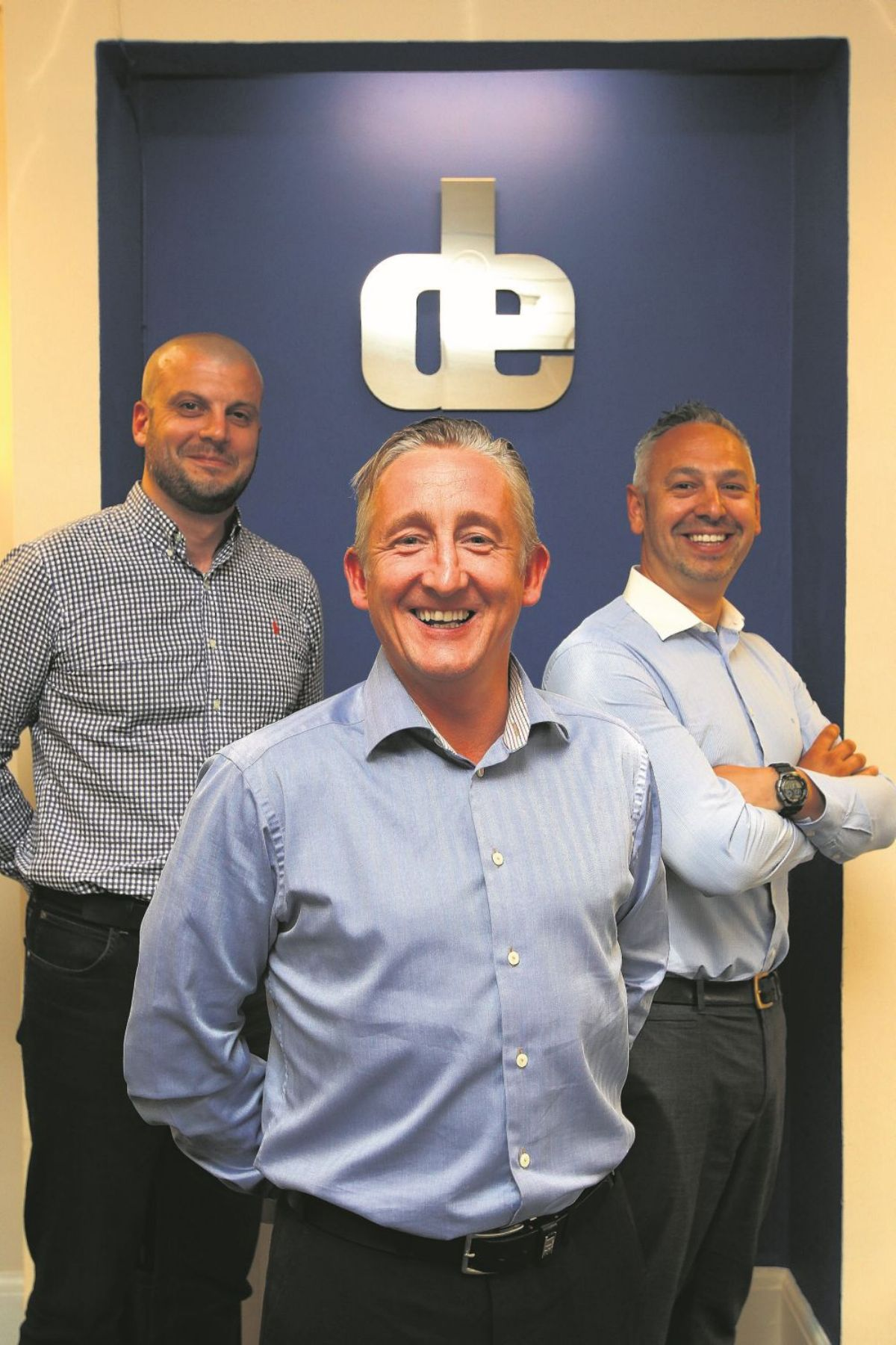 From left, operations director John Williams, MD Matt Smith and sales director