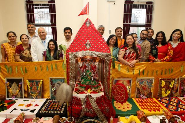 The Navchandi Yagna festival in Southampton