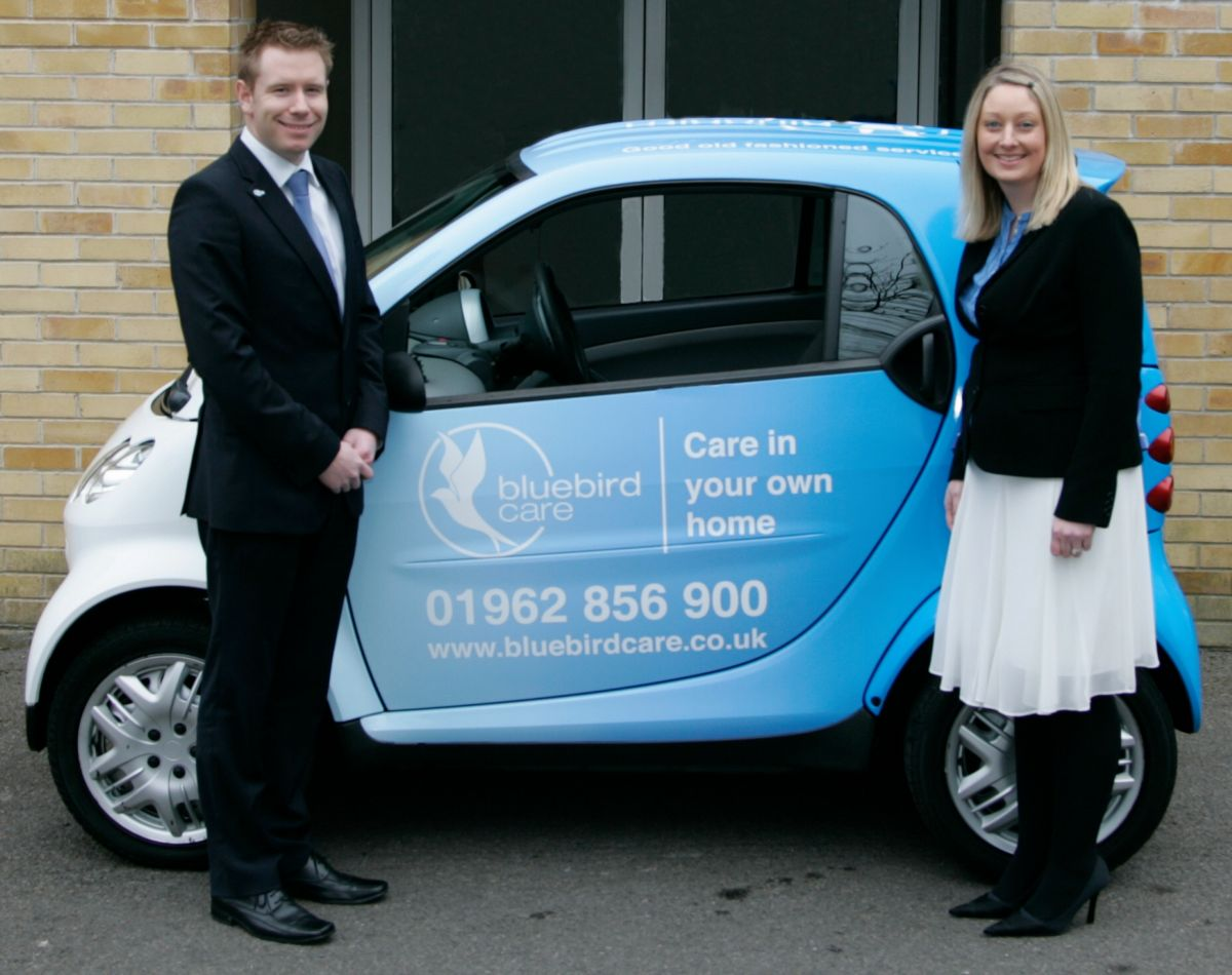 Norman and Claire Murphy, of Bluebird Care.
