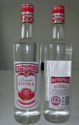 Council licensing chiefs seized nearly 200 bottles of counterfeit vodka from Commercial Express in Commercial Road