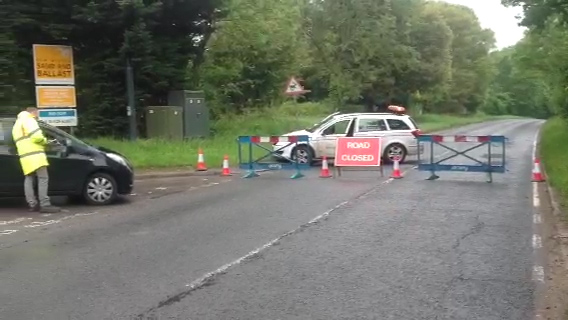 Serious crash shuts main road