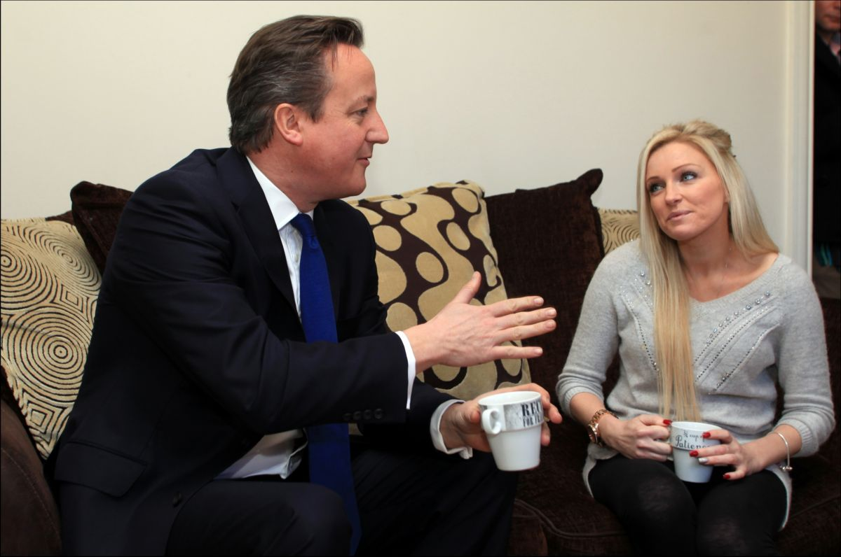 Prime Minister David Cameron visited Sharon O'Donnell back in January to talk about her experience of the Help to Buy scheme.