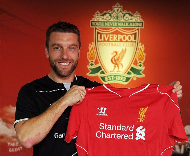 Daily Echo: Rickie Lambert is unveiled by Liverpool. Photo: Liverpool FC