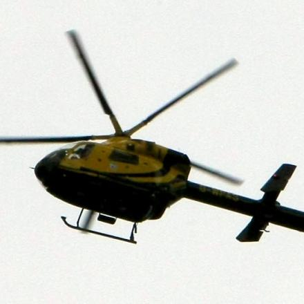Helicopter used in search for assault suspect