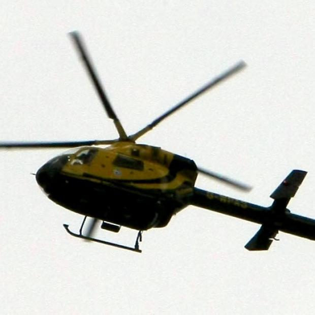 Daily Echo: Helicopter used in search for assault suspect