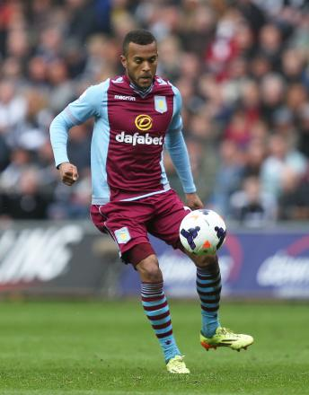 Ryan Bertrand during his loan spell at Aston Villa last season