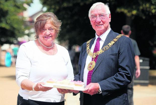 The Mayor and Mayoress of Winchester, Cllr Ernie and Mrs Barbara Jeffs.