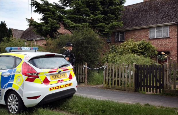 Police outside the home in Water Lane, Totton
