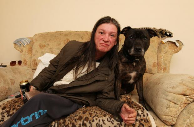 Daily Echo: The woman known as 'Moira' and her dog Freddie.