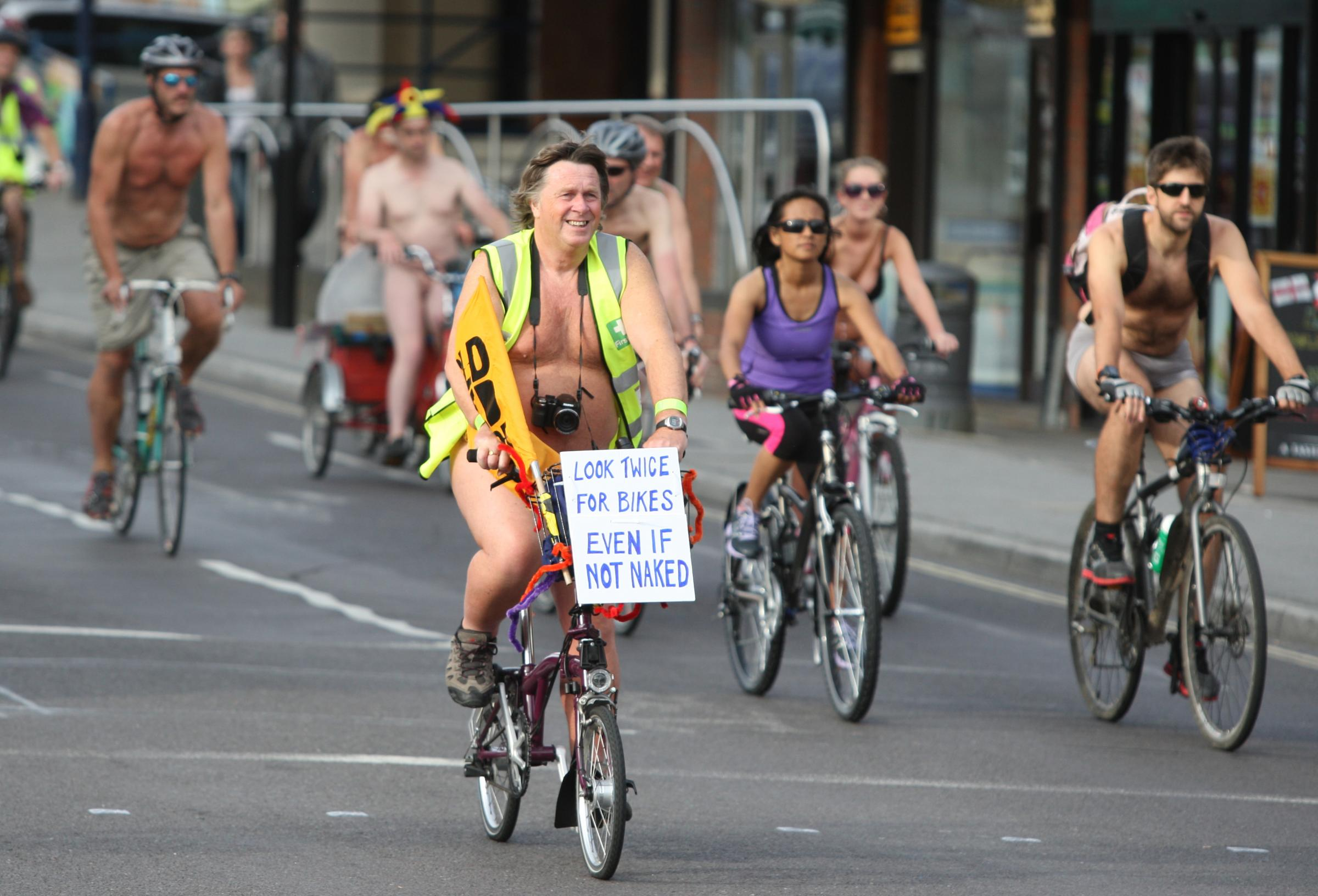 Dozens take part in naked bike ride