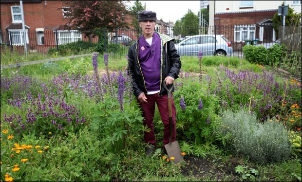 David Rawlinson at his former allotment