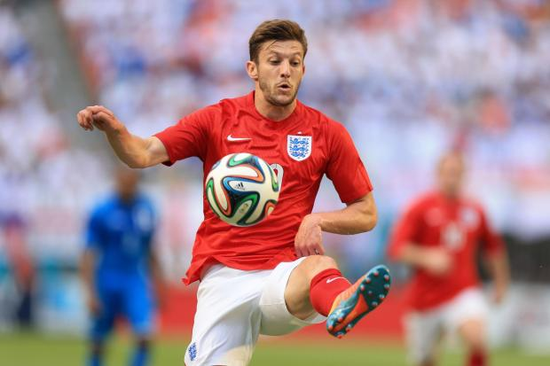 Daily Echo: Adam Lallana in action for England