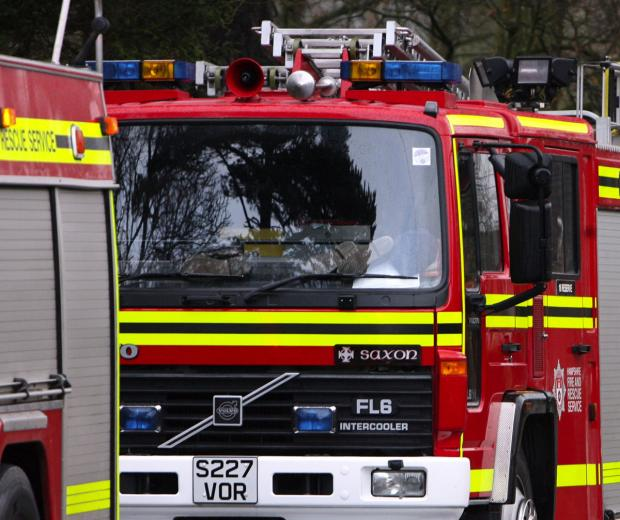 Combine harvester destroyed by fire