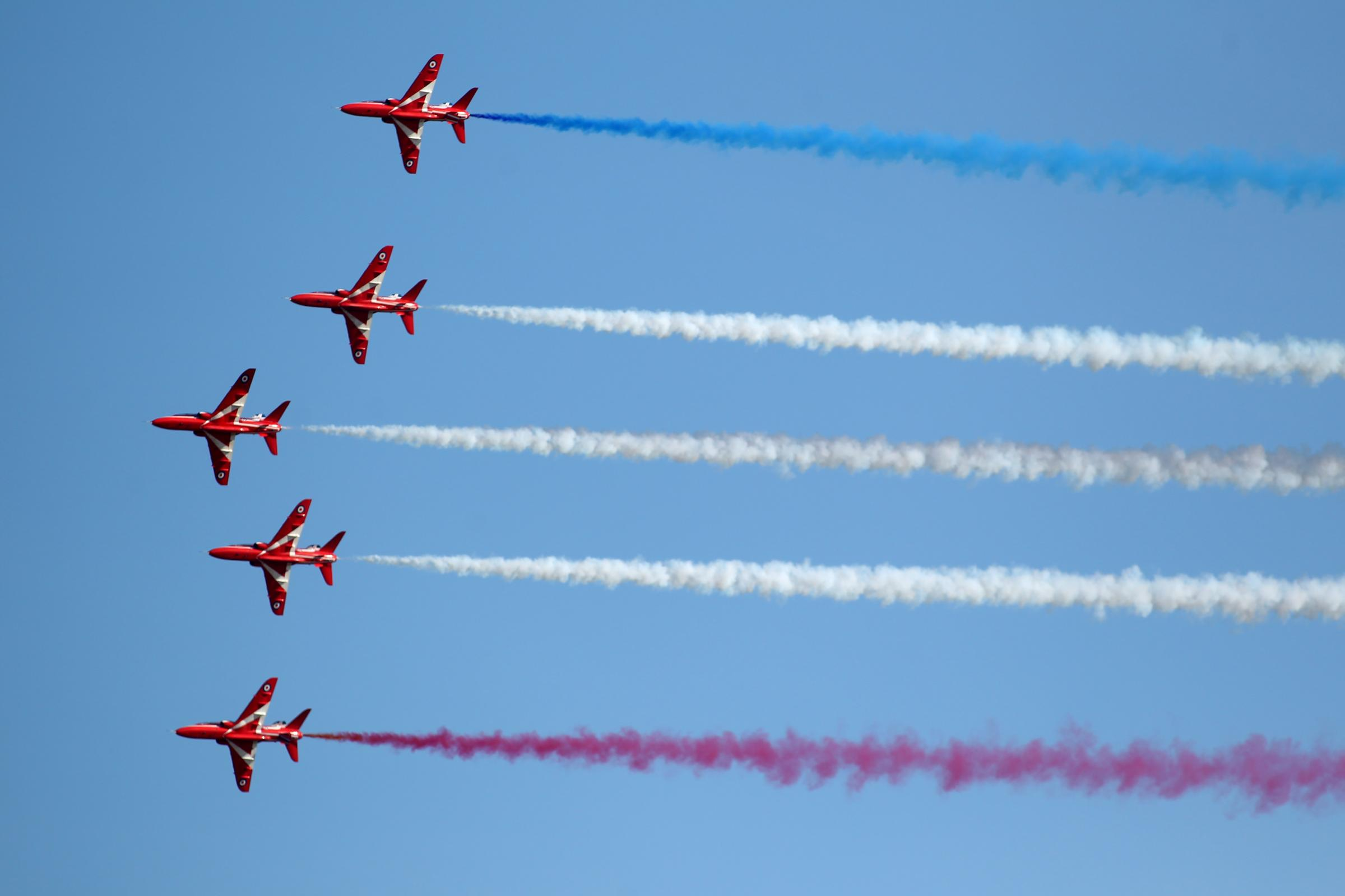 The Red Arrows put on an impressive show over the New Forest.