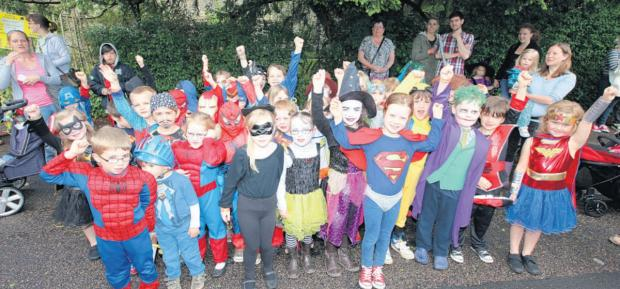 Bishops's Waltham Infant School pupils at the carnival