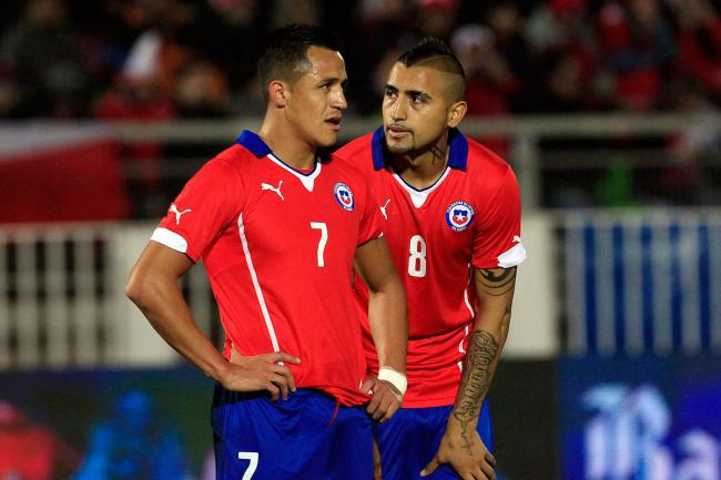 Arturo Vidal and Alexis Sanchez