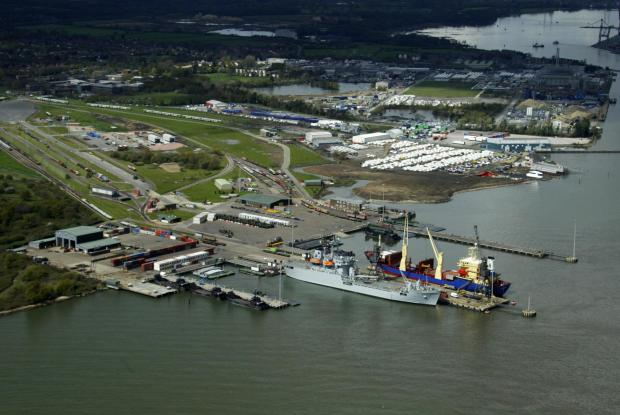 Marchwood Military Port.