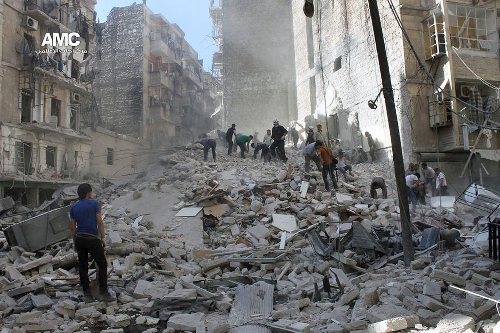 Damage caused by fighting in Syria