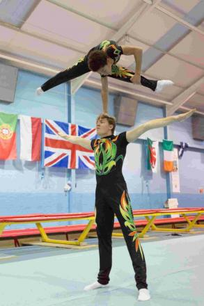 Southampton gymnasts Kieran Whittle and Farai Bright Garamukanwa