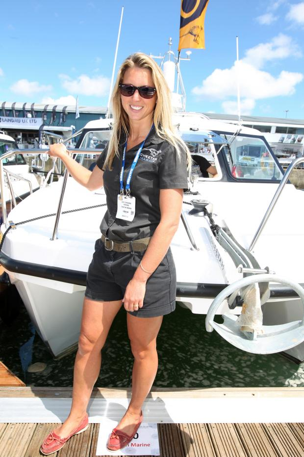 Daily Echo: Lucy Stevens of Cheetah Marine at Seawork 2014