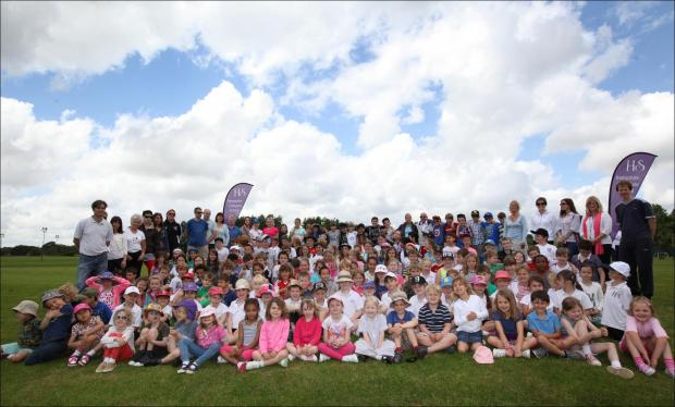 Staff and pupils of Hampshire Collegiate Prep School walked as many laps of their grounds as they could for charity.