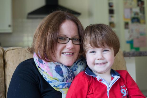 Milo Lockley-Boyd, who suffers from hydrocephalus, with mum Millie