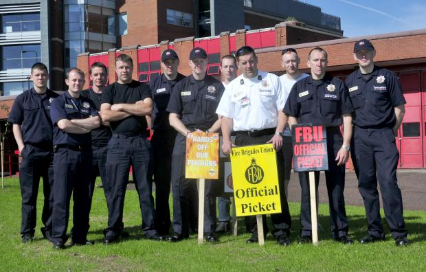 Daily Echo: Firefighters on the picket line