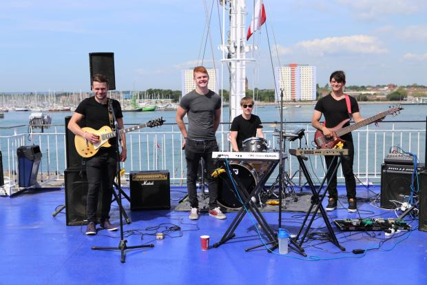 Daily Echo: Naked Fridays perform aboard Wightlink ferry St Clare