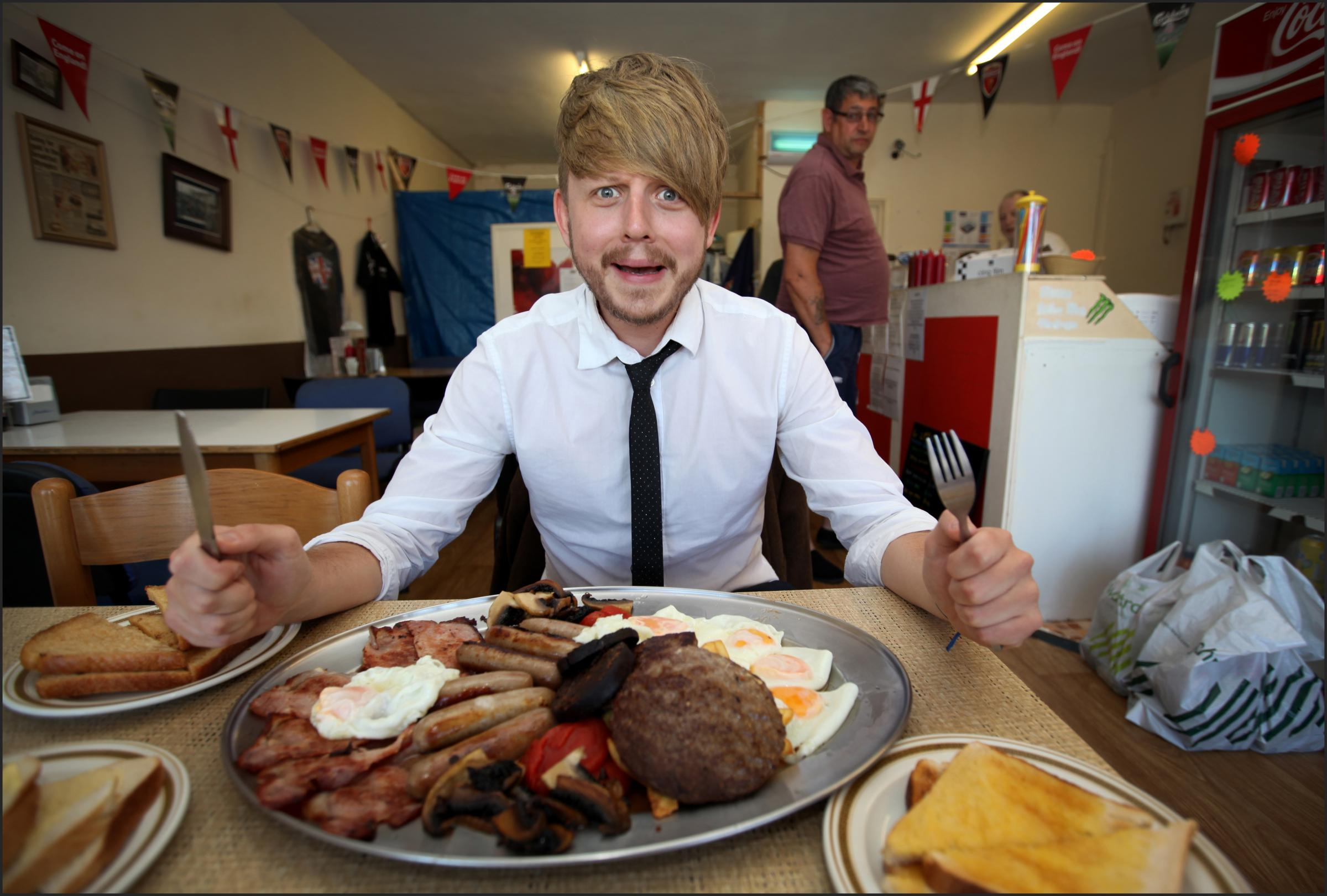 Could you take on the Olympic Breakfast with 5,000 calories?