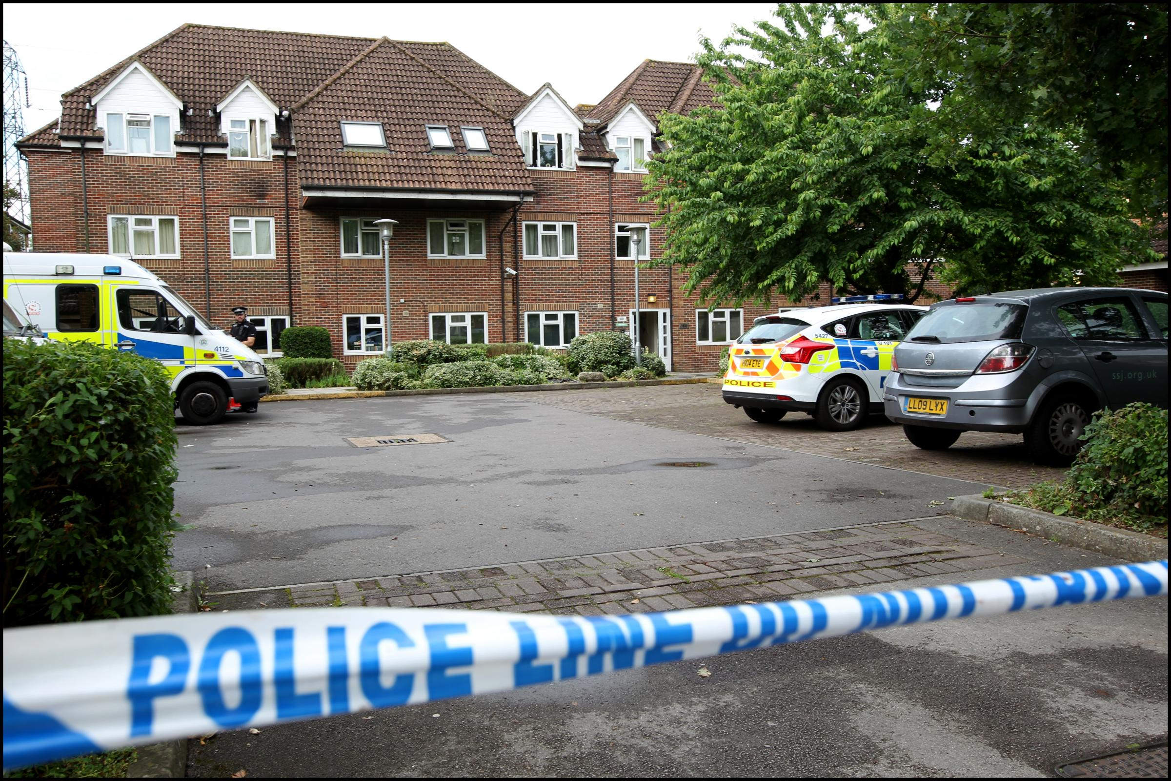 The murder scene at the Society of St James' Jordan House in Millbrook Road East, Southampton