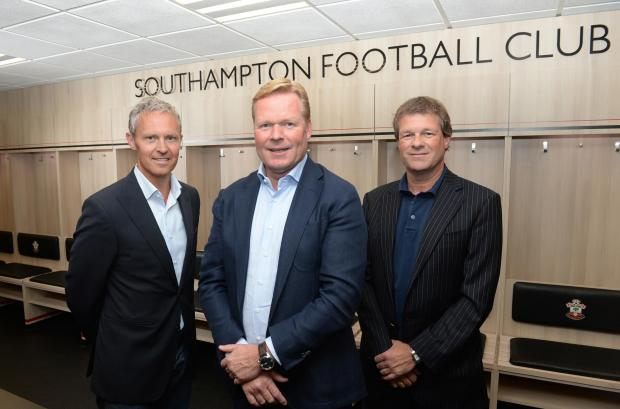 From left to right: Jan Kluitenberg, Ronald Koeman and Erwin Koeman (Photo: Southampton FC)