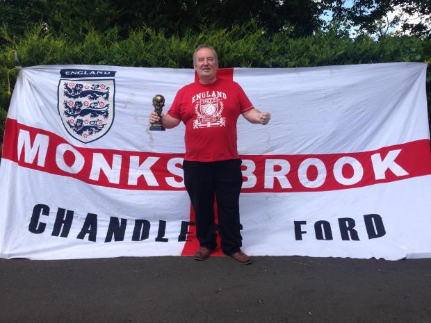 Daily Echo: Tim Murray and his flag 'Monks Brook'