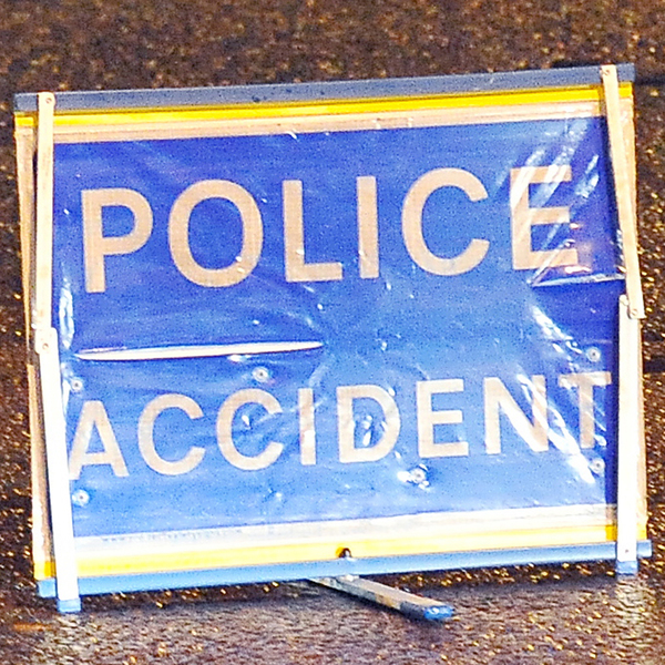 Main road shut after motorbike crash