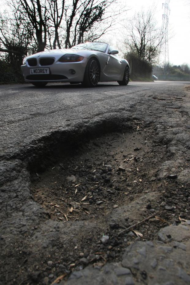 Daily Echo: 118,000 pot holes to be filled in £6m blitz across Hampshire
