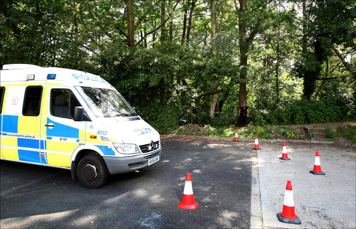 Specialist police drugs teams scouring city woods