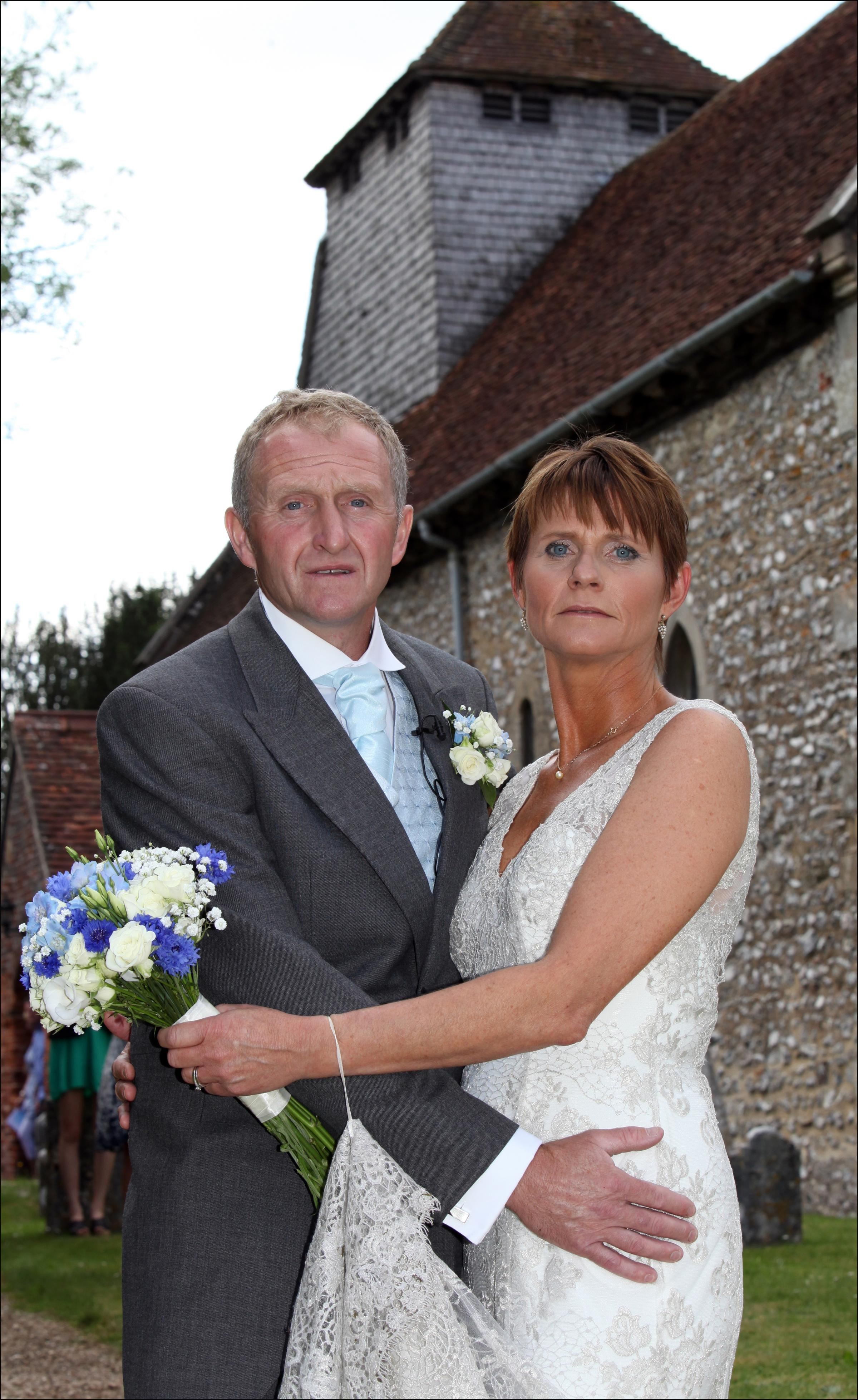 Wedding joy for couple after wedding thrown into chaos by church blaze