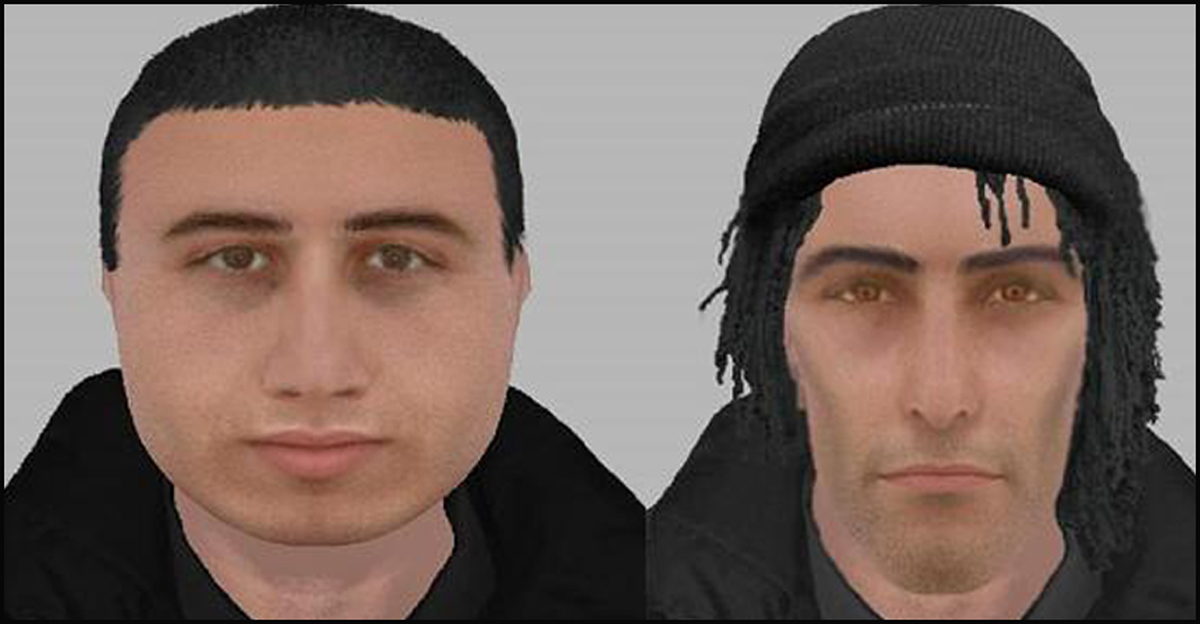 E-fit images of the suspects.