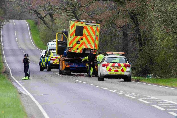 The ambulance is recovered after the fatal crash on the A337 in the New Forest