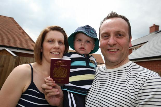 Dominic and Emma Sayers with their son Fraser.