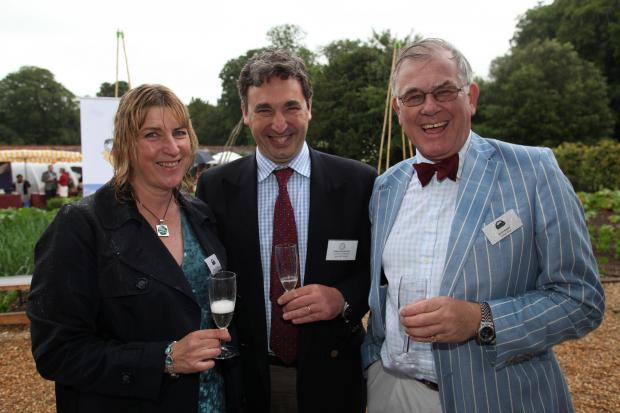 From left, Katharine O'Callaghan of Jenkyn Place, Phillip Holroyd-Smith  of Sparsholt College and Simon Bladon from Jenkyn Place at last year's Hampshire Food Festival.