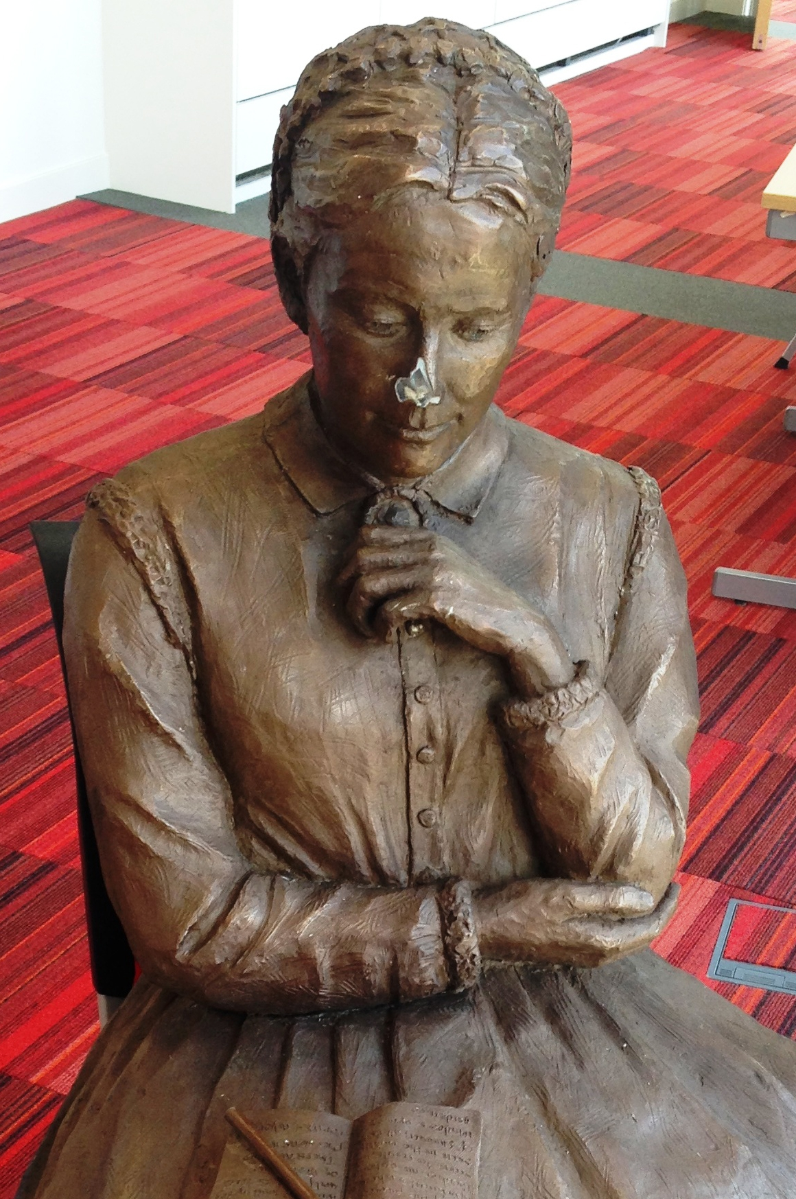 Thugs damage £25,000 sculpture of novelist who named town