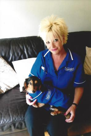 Care patients get visit from dachshund Mr Pickles