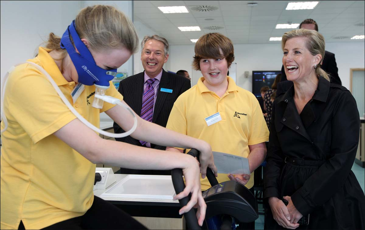 Sophie, Countess of Wessex visiting the Life Lab facility at Southampton General Hospital.