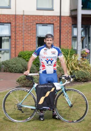 Nick Armitage is riding from London to Paris for charity