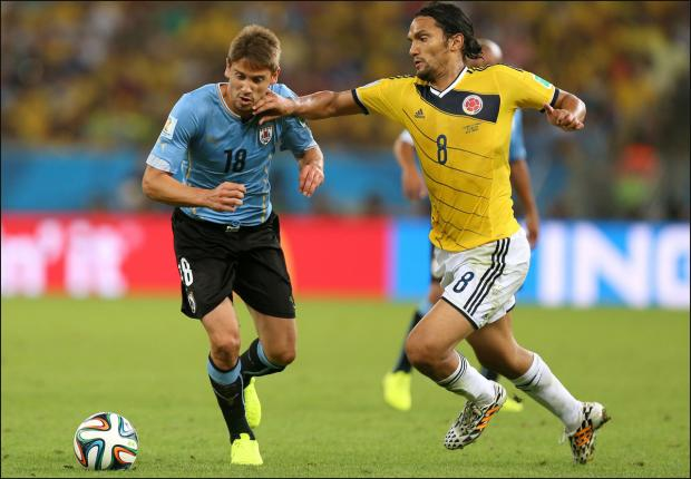 Gaston Ramirez in action against Colombia