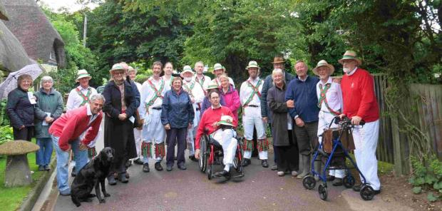 Winchester Morris Men perform across county