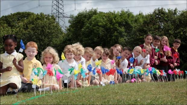 Children from St Anthony's Catholic Primary School in Titchfield.