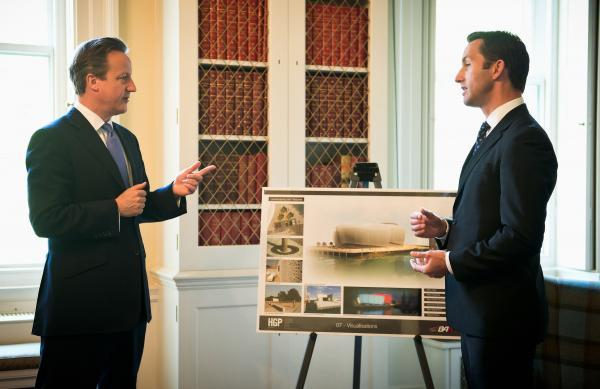 Ben Ainslie meets David Cameron about his America's Cup base plan for Portsmouth